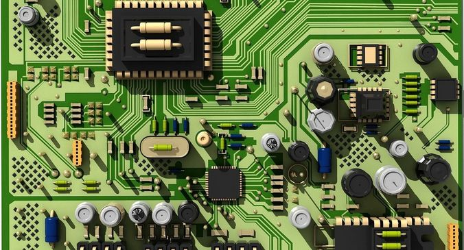 3d model circuit board city cgtrader3d Circuit Board Model #8
