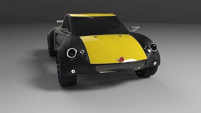 3D car rhino classic | CGTrader