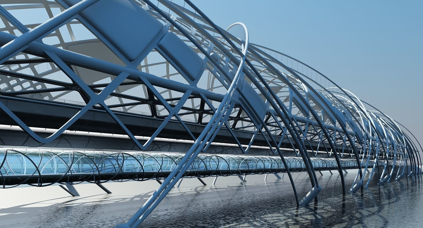 Futuristic Suspension Bridge 2