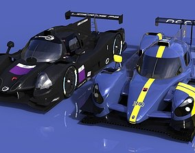 Norma M30 and Ligier JSP3 ELMS cars 3D model