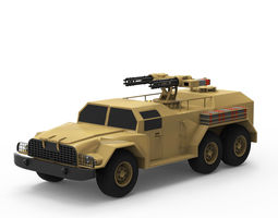 Military vehicle realistic 3D model