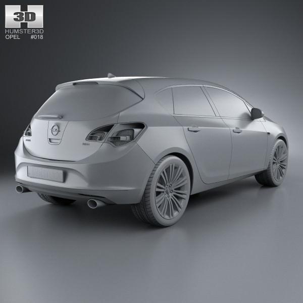 Opel Astra J Hatchback 5-door 2012 3D Model .max .obj .3ds