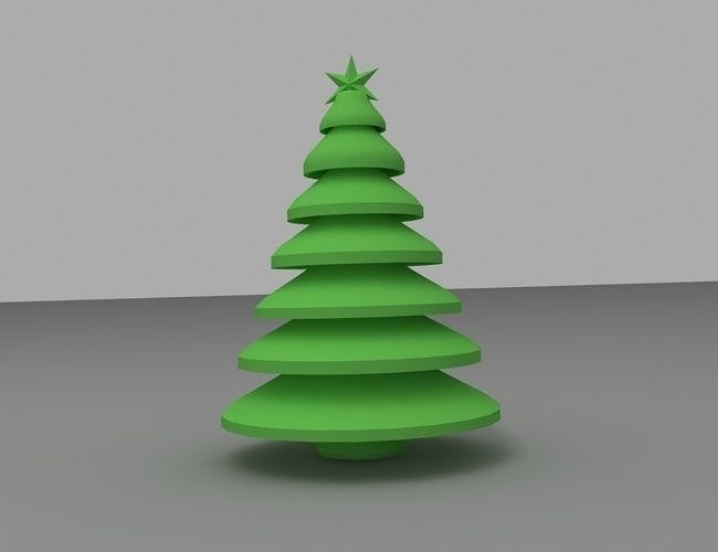 3d Print Model Christmas Tree Xmas Cgtrader