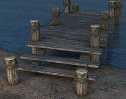 Broken Old Pier 3D