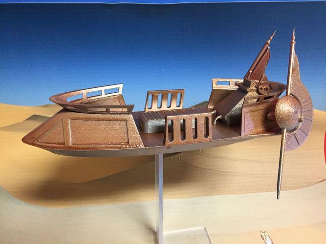 sand skiff star wars 3d model stl 1