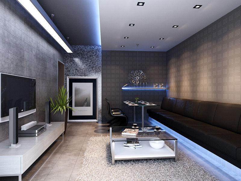 002 living room 3d model max for The living room 002