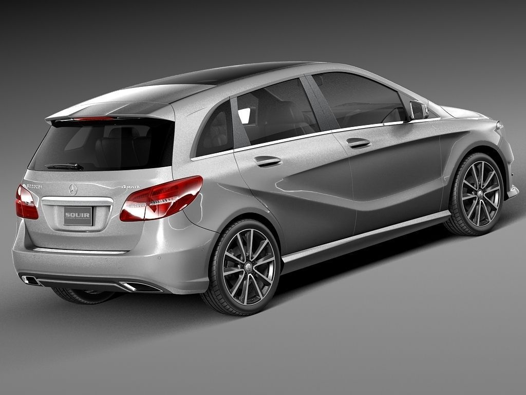 Mercedes benz b class 2015 3d model max obj 3ds fbx for Mercedes benz c class models