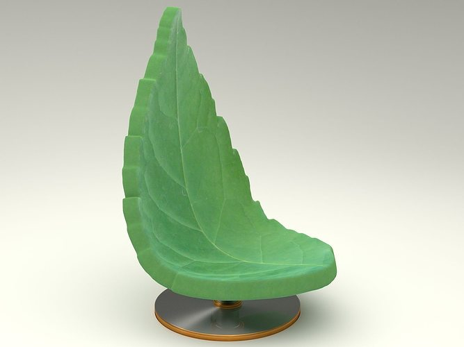 3d Nature Chair Leaf Cgtrader