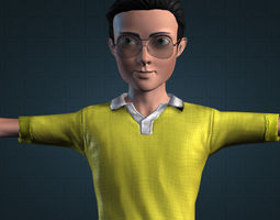 Nobita Fans Art 3D model animated