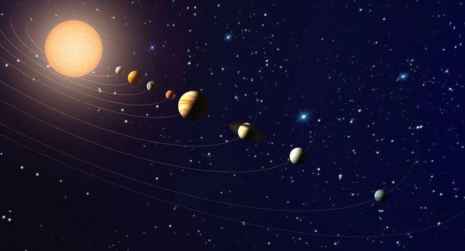solar system 3d model max 1
