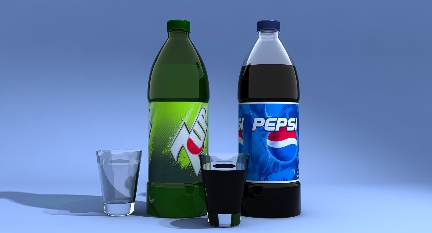 Pepsi And 7Up Bottles