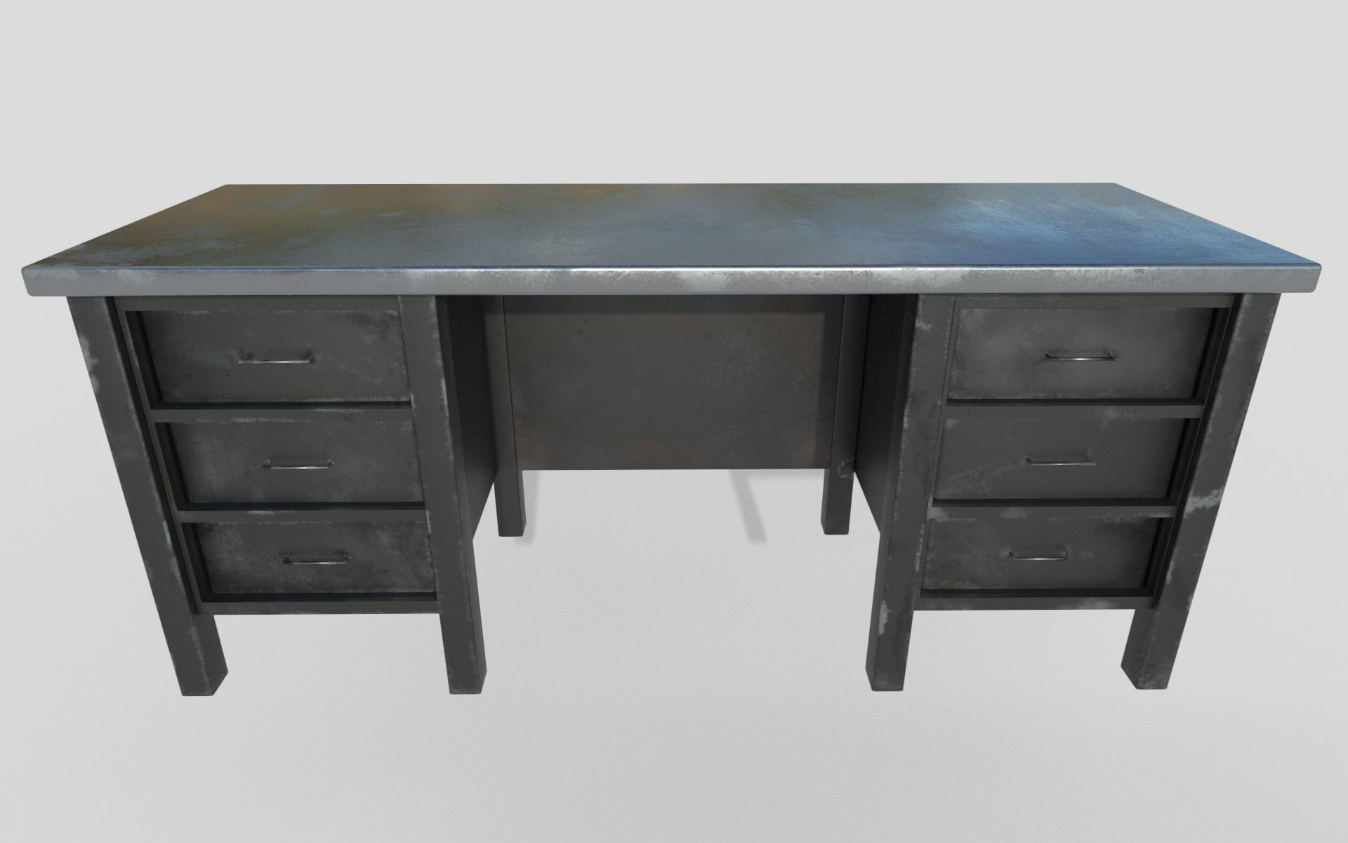 old metal desk 3d asset cgtrader rh cgtrader com old metal desk makeover old metal desk chair