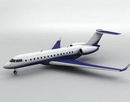 Bombardier Global Express 6000 Aircraft 3D model