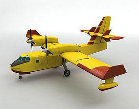 3D asset Canadair CL-415 Aircraft