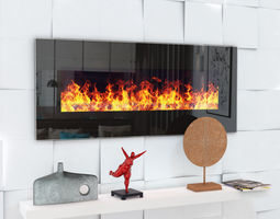 3D model Fireplace Genius 100 with audio system