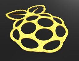 Raspberry logo 3D Model