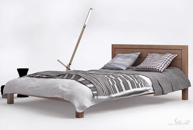 modern bed ledger 3d model max 1