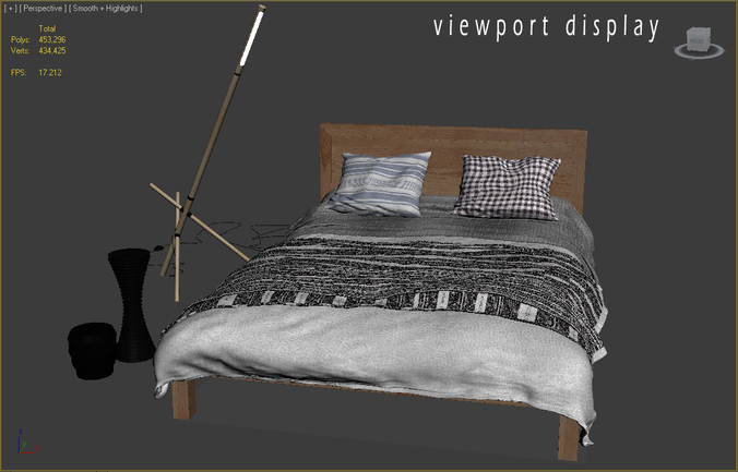 modern_bed_ledger 3D Model Game-ready .max - CGTrader.