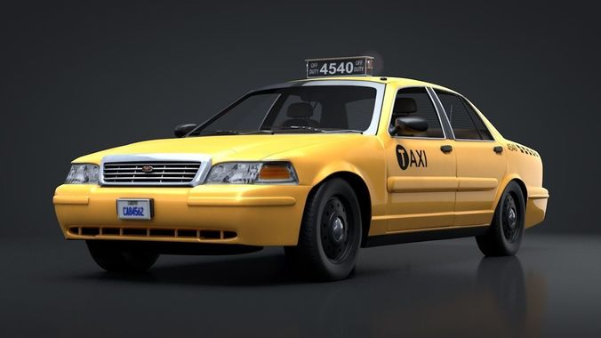 City Taxi Rigged C4D