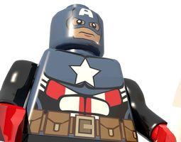 3D model Lego Captain America