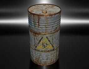 3D model Old Blue Barrel