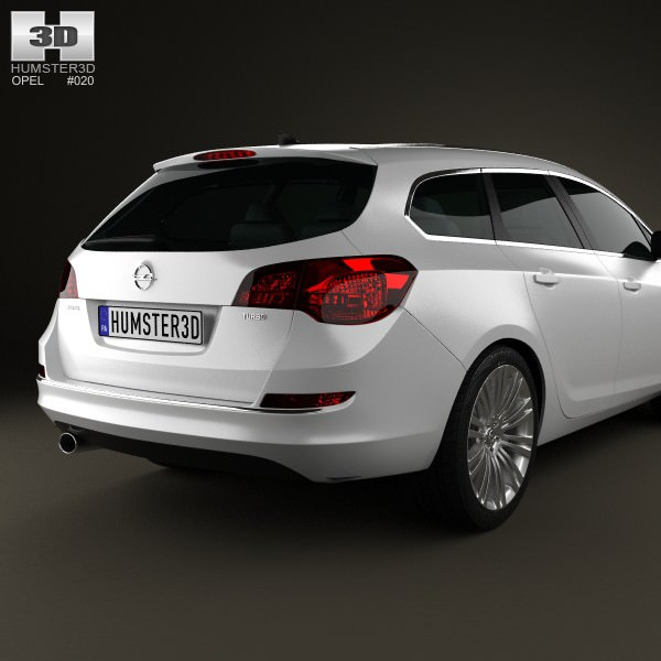 opel astra j sports tourer 2012 3d model max obj 3ds fbx c4d lwo lw lws. Black Bedroom Furniture Sets. Home Design Ideas
