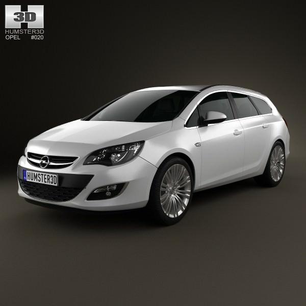 Opel Astra J sports tourer 2012 3D   CGTrader