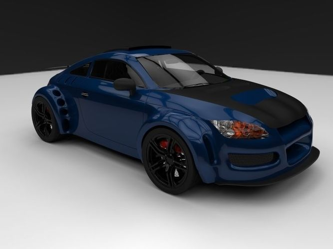 Audi Tt Custom Racing Edition Free 3d Model Max Dwg
