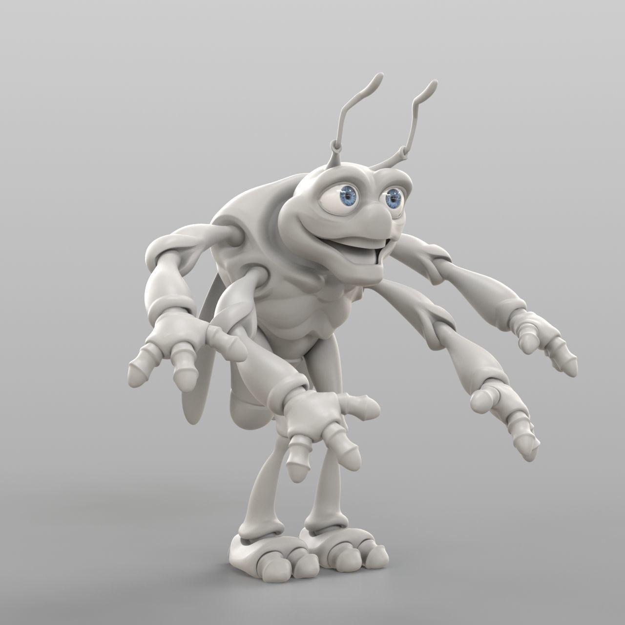 Cartoon Cicada