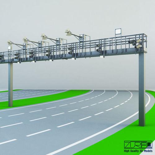 multi lane free flow mlff 3d model max obj mtl fbx 1