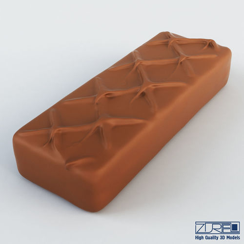 milky way chocolate bar 3d model max obj mtl fbx 1