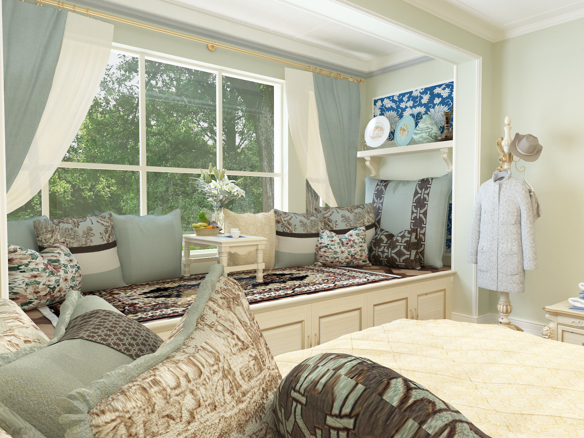 Large Bedroom New Classicism Style With Cloakroom Large Bedroom 3d Model Max