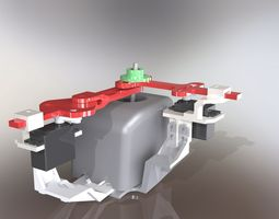 3d Servomotor Model Download Max Obj Fbx 3ds C4d Stl