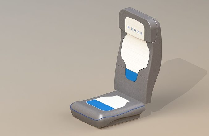 airplane seat 3d model stl ige igs iges 1