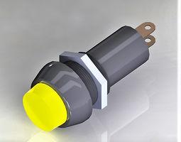 3D model Signal bulb 10 yellow