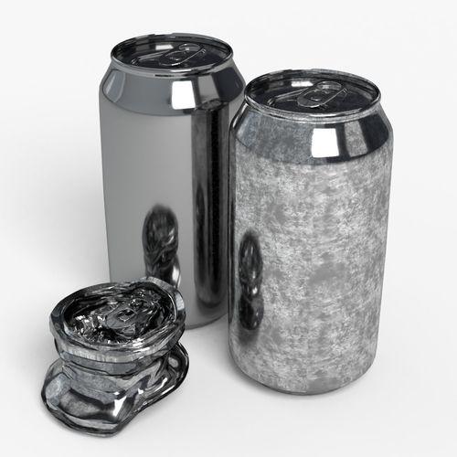 330ml beverage open and off model set 3d model low-poly obj mtl 3ds fbx c4d dxf stl 1