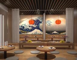Japan restaurant 3D model