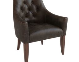 Upholstery chair with capitone - Artu BL 3D