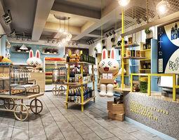 3D modern shop