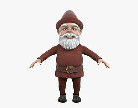 A Gnome with a Large Hat 3D Model No game-ready