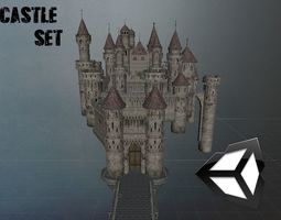 Castle set 3D asset
