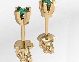 3D print model 2 fashion stud earrings
