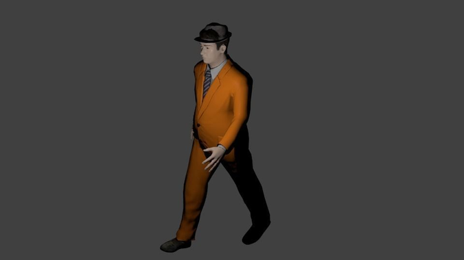 Business Man Caucasian Animated Rigged3D model
