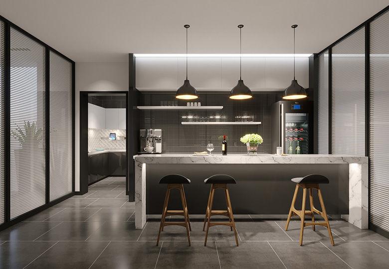 modern kitchen mini bar 3D | CGTrader on Modern Model Kitchen  id=85039