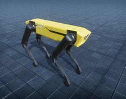 3D model Spot mini Low poly Rigged