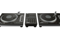 electronic dj turntable  3D Model