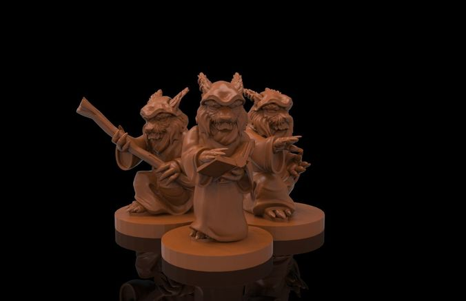 magician khajiit collection 3d model stl 1