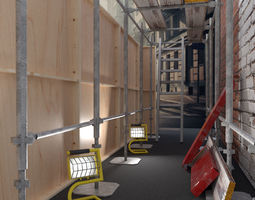 3D model Scaffold platform elements for construction and