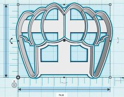 3D print model Dracula Tusks Colmillos Cookie Cutter