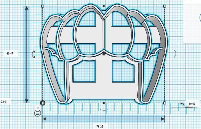 dracula tusks colmillos cookie cutter 3d model stl 1